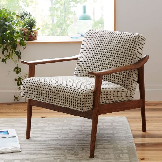 mid century show wood upholstered chair west elm. Black Bedroom Furniture Sets. Home Design Ideas