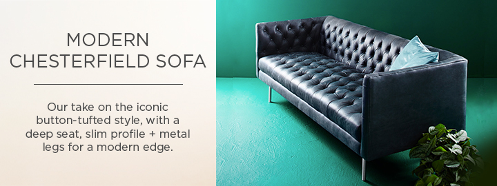Modern Chesterfield Sofa Collection West Elm