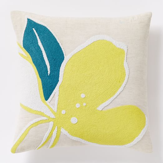 Orchid Beaded Pillow Cover
