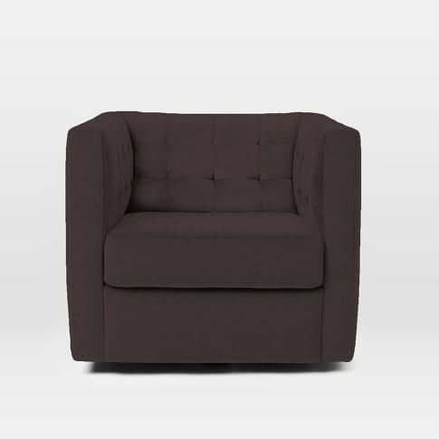 Rochester Swivel Chair, Basketweave, Iron