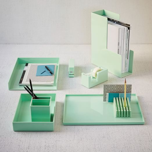color pop office accessories mint west elm