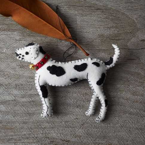 Stitched Dog Ornament, Dalmatian