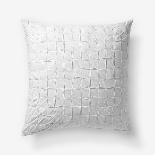 Square Tuck Euro Sham, White