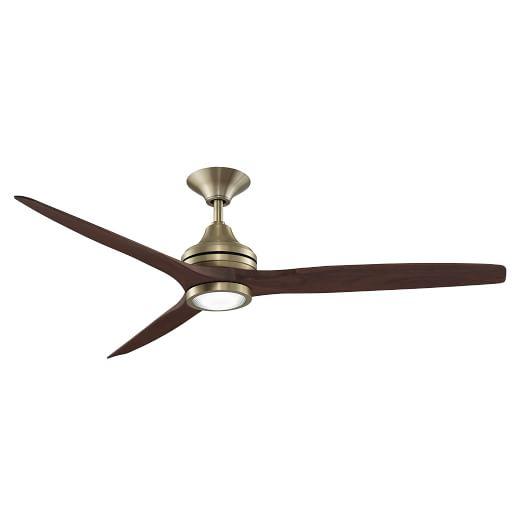 Curved wood metal ceiling fan west elm - Curved blade ceiling fan ...