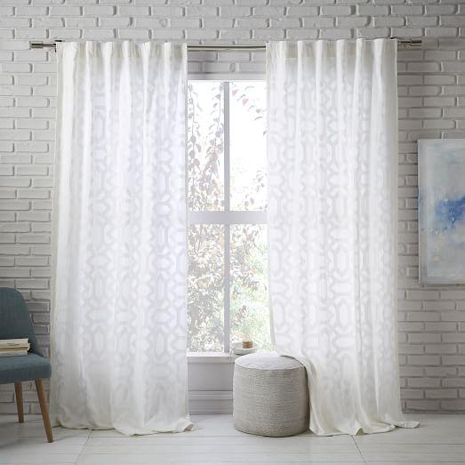 Sheer Lattice Curtain West Elm