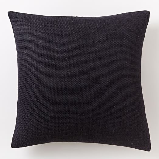 Silk Hand-Loomed Pillow Cover - Black