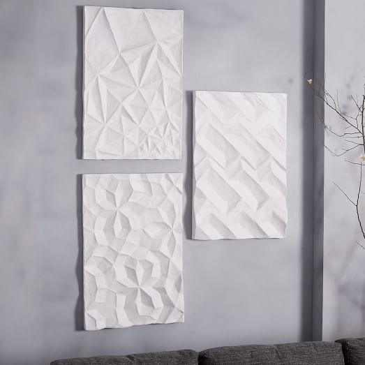 Paper Wall Panels : Papier mache wall art geo panel west elm