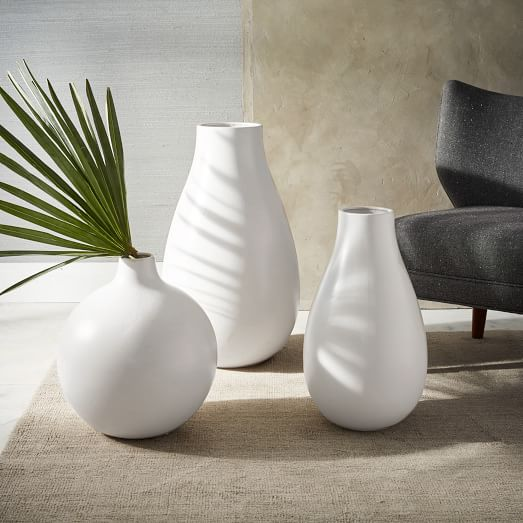 Oversized Pure White Ceramic Vases West Elm