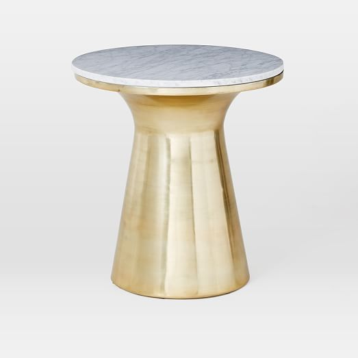 Marble Topped Pedestal Side Table West Elm
