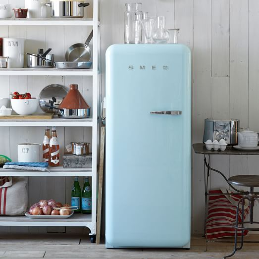 Baby Blue Kitchen Accessories: Smeg Full Size Refrigerator