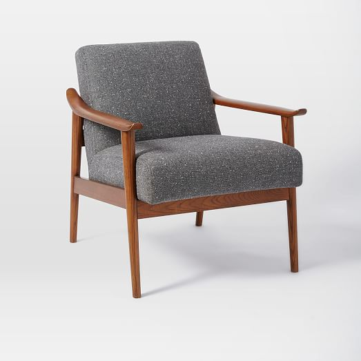 Mid Century Show Wood Upholstered Chair