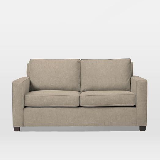 henry sleeper sofa dove gray performance velvet west elm. Black Bedroom Furniture Sets. Home Design Ideas