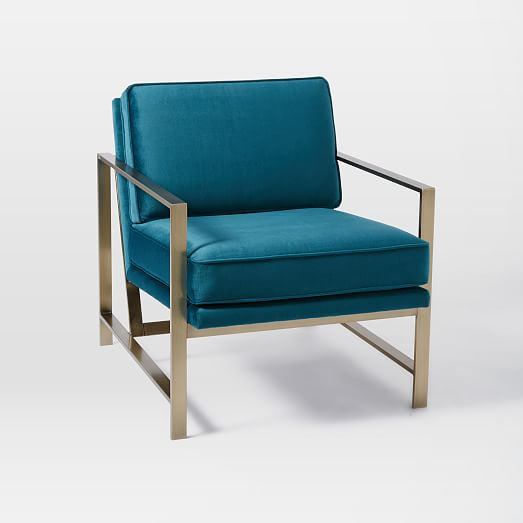 Metal Frame Upholstered Chair West Elm