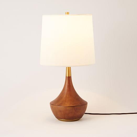 west elm rejuvenation mid century wood table lamp medium west elm. Black Bedroom Furniture Sets. Home Design Ideas