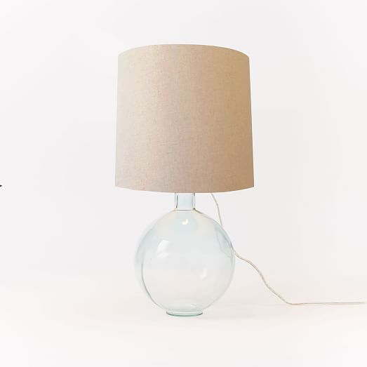 recycled glass table lamp west elm. Black Bedroom Furniture Sets. Home Design Ideas