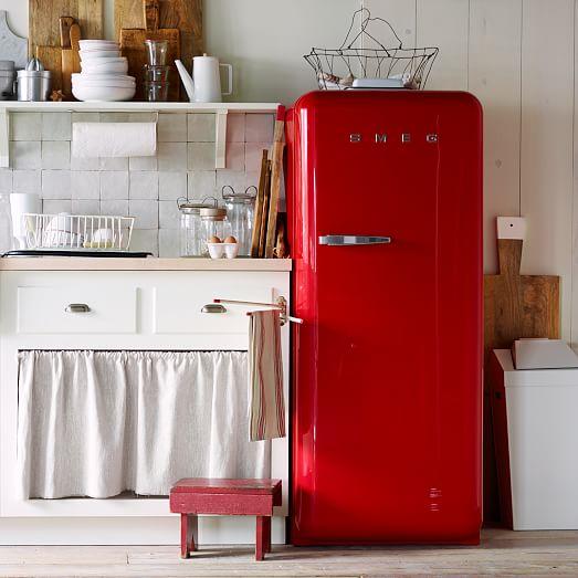 smeg full size refrigerator west elm. Black Bedroom Furniture Sets. Home Design Ideas