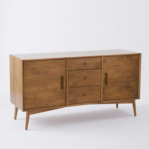 mid century media console large west elm. Black Bedroom Furniture Sets. Home Design Ideas