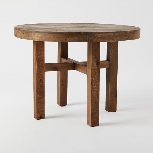 emmerson reclaimed wood round dining table west elm. Black Bedroom Furniture Sets. Home Design Ideas