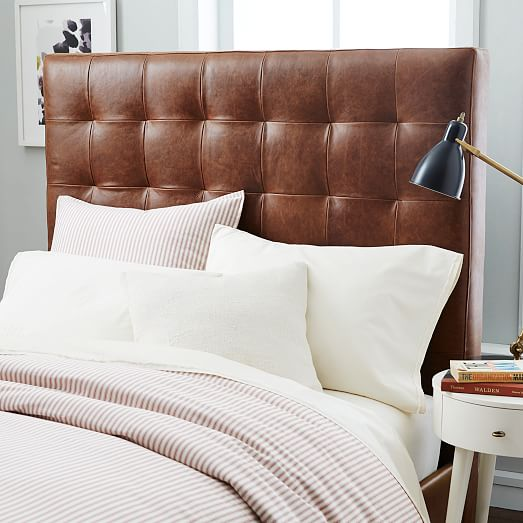 Tall Leather Gridtufted Headboard  West Elm. Counter Stools With Arms. Tiffany Blue Pillows. Pool Landscaping Ideas. Western Homes. Modern Kitchen Islands. Patio Idea. Gray Leather Couch. Home Co