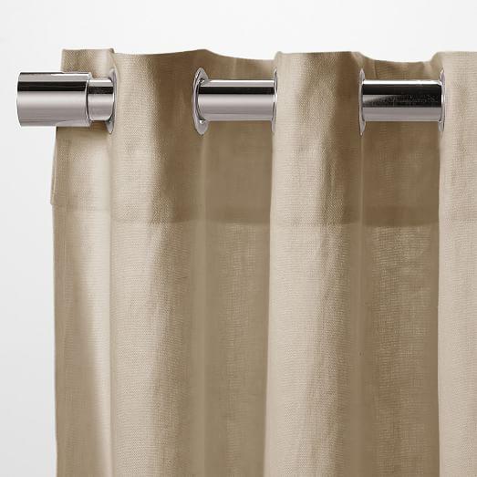 Linen Cotton Grommet Curtain - Flax | west elm