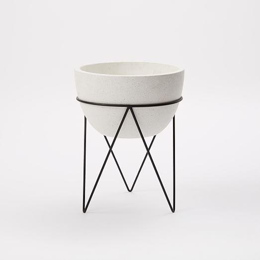 iris planter chevron stand west elm. Black Bedroom Furniture Sets. Home Design Ideas