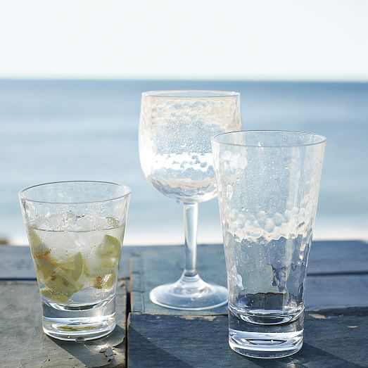 hammered acrylic drinkware set of 4 west elm