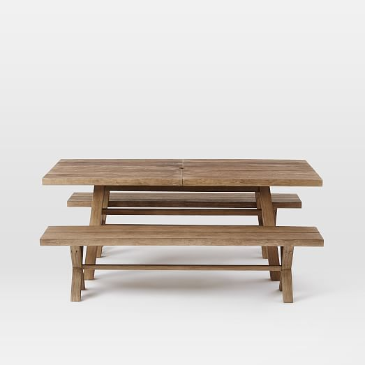 Jardine Expandable Dining Set Table 2 Benches west elm : jardine expandable dining set table 2 benches c from westelm.com size 523 x 523 jpeg 14kB