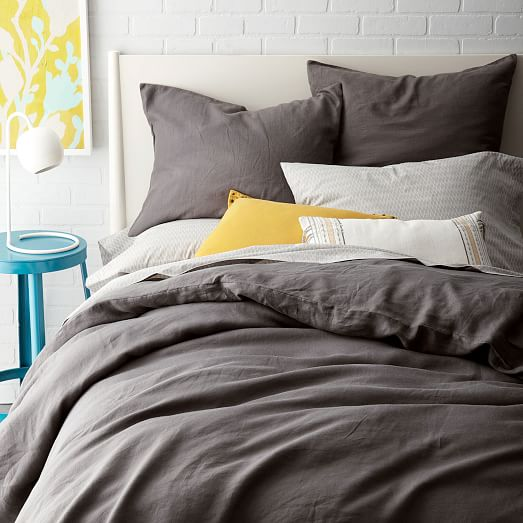Belgian Flax Linen Duvet Cover Shams West Elm