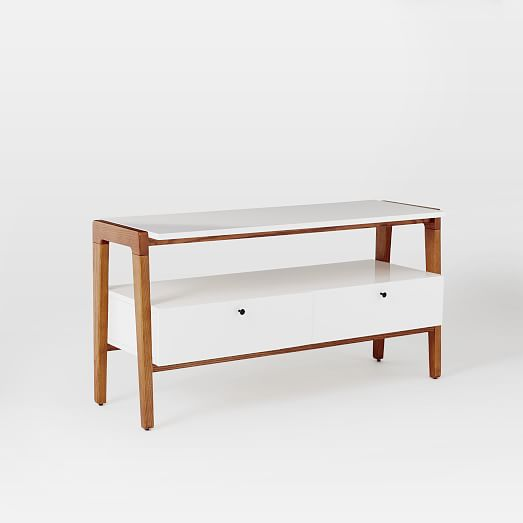 Modern media console small west elm Modern media console