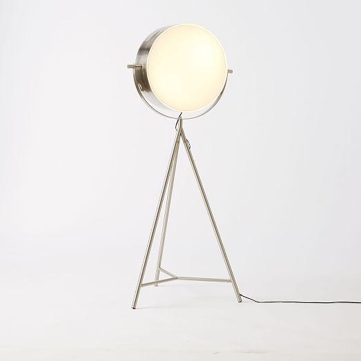 spotlight metal tripod floor lamp west elm. Black Bedroom Furniture Sets. Home Design Ideas