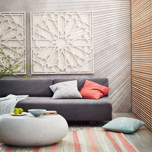 Whitewashed wood wall art west elm for Artwork for wall decoration