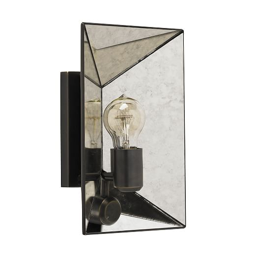 Faceted Mirror Sconce west elm