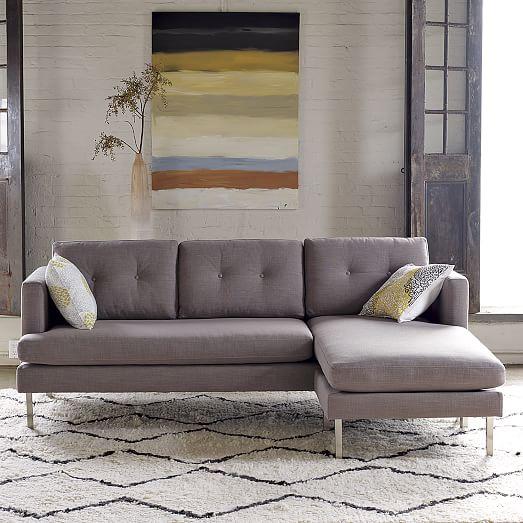 jackson 2 piece chaise sectional west elm. Black Bedroom Furniture Sets. Home Design Ideas