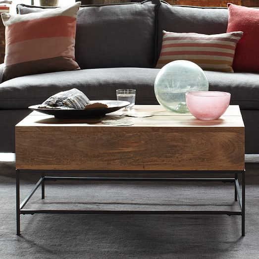 industrial storage coffee table west elm. Black Bedroom Furniture Sets. Home Design Ideas