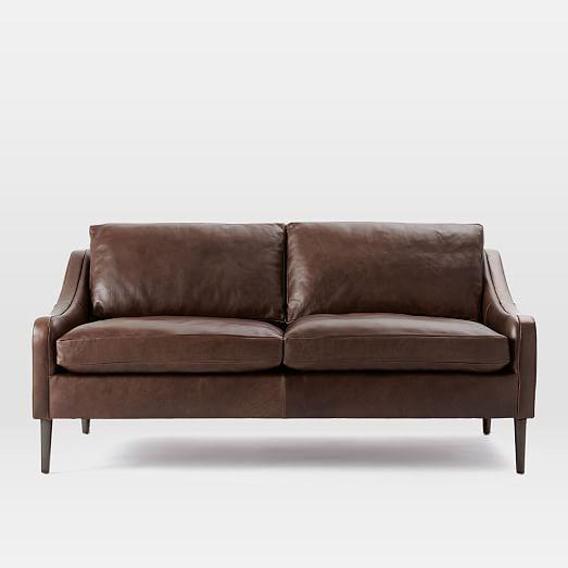 Lindrum Leather Sofa Clove West Elm