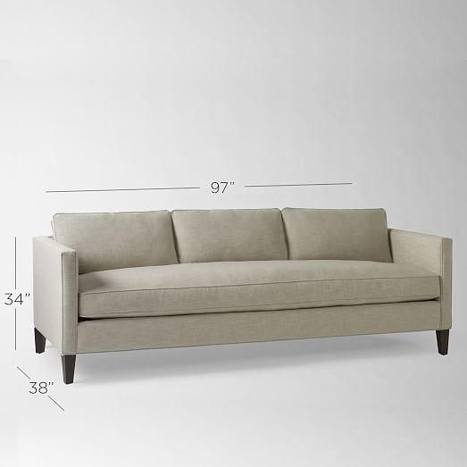 dunham down-filled sofa