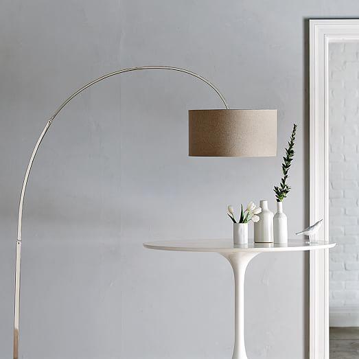 Overarching Floor Lamp Polished Nickel West Elm