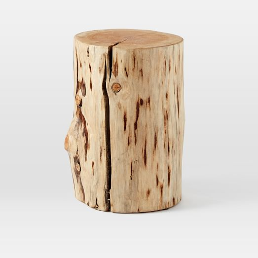 Coffee Table Made Out Of Tree: Natural Tree Stump Side Table