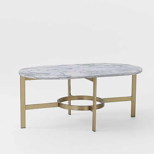 Oval Coffee Table Design: Marble Oval Coffee Table