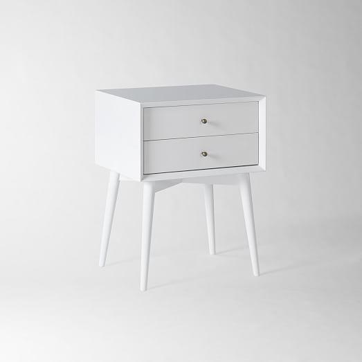 mid century nightstand white west elm. Black Bedroom Furniture Sets. Home Design Ideas