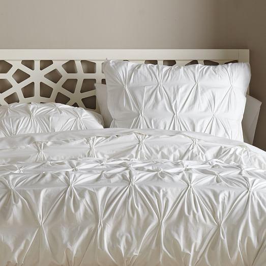 organic cotton pintuck duvet cover shams west elm. Black Bedroom Furniture Sets. Home Design Ideas