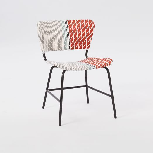Colorblock Woven Chair