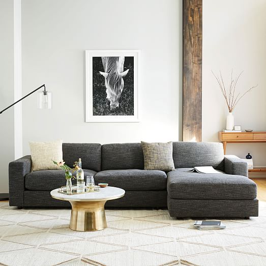 Urban 2 piece chaise sectional west elm for Best west elm sofa