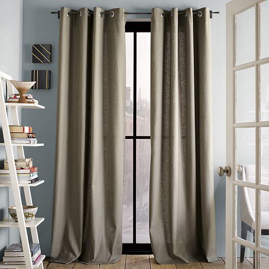 Linen Cotton Grommet Curtain West Elm
