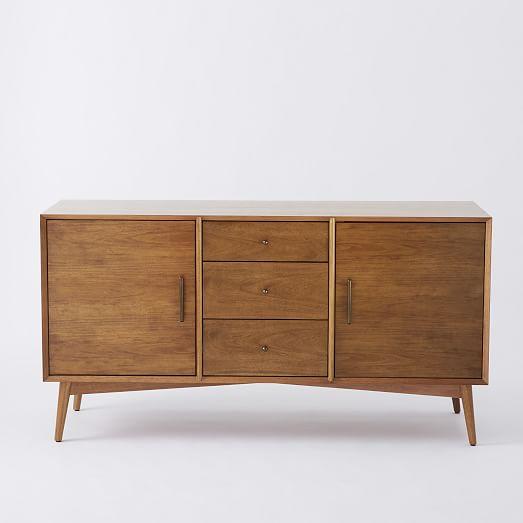 mid century media console large west elm. Black Bedroom Furniture Sets. Home Design Ideas
