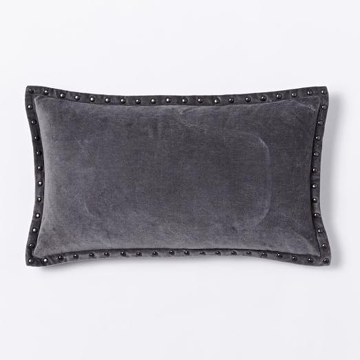 Studded Velvet Pillow Cover, 12