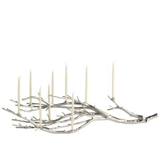 Manzanita Branch Candelabra, Silver