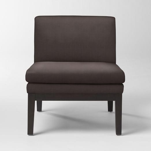 Slipper Chair, Basketweave, Iron