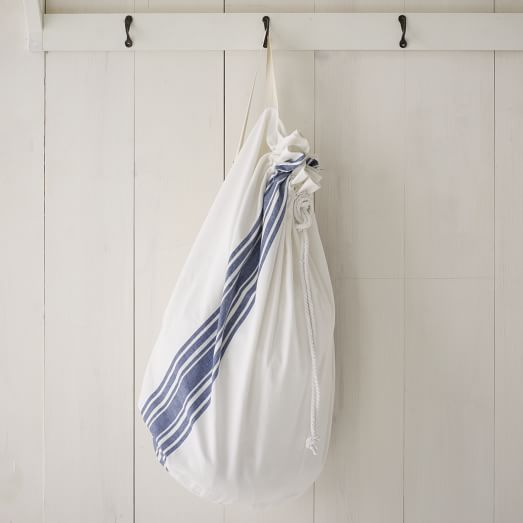 Laundry Bag, Café Stripe