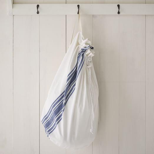 Laundry Bag, Café Stripe